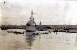 FDR in Hawaii-USS Houston in Honolulu HArbor