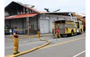 Fire Destroys Suisan Wharehouse-2014