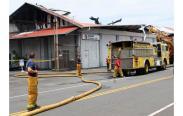 Fire Destroys Suisan Wharehouse-2014