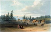 Fort Vancouver by H. Warre (1848)