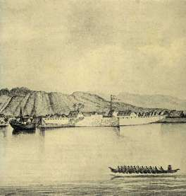 Fort of Honolulu-John_Colburn-visited Honolulu twice during the voyage-July 8-23, 1837 and May 31-June 10, 1839