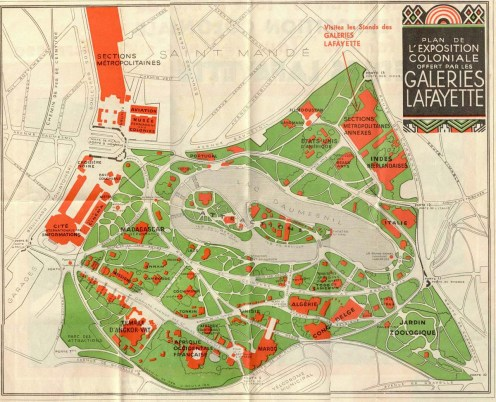 French Colonial Exposition, Paris Plan 1931