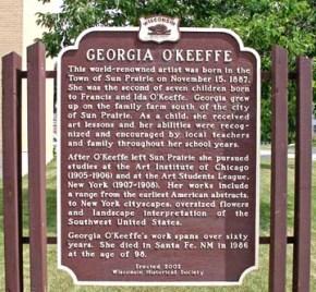 Georgia Okeeffe-sign