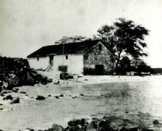 Hale ʻIli Maiʻa, the Royal storehouse of King Kamehameha I, Kailua, Kona, Hawaii.