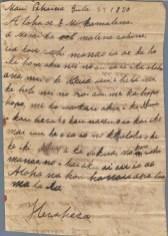Hewahewa to Levi CHamberlain, July 27, 1830
