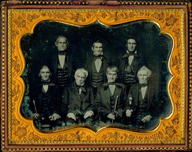 Hiram, Stephen, David, Asa, Amos, Calvin, Luther Bingham-Bennington Museum-1860