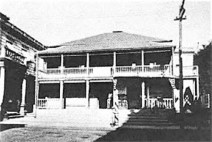 Honolulu Hale-governmental building then post office from 1853-1871