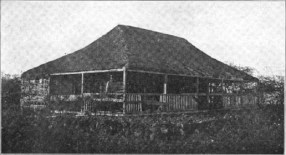 House of Kamehameha V at Kaunakakai on the south shore of Molokai where the Kapuaiwa groves stands today. It served as fishing lodge for the King-1888