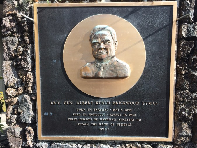 General Lyman plaque