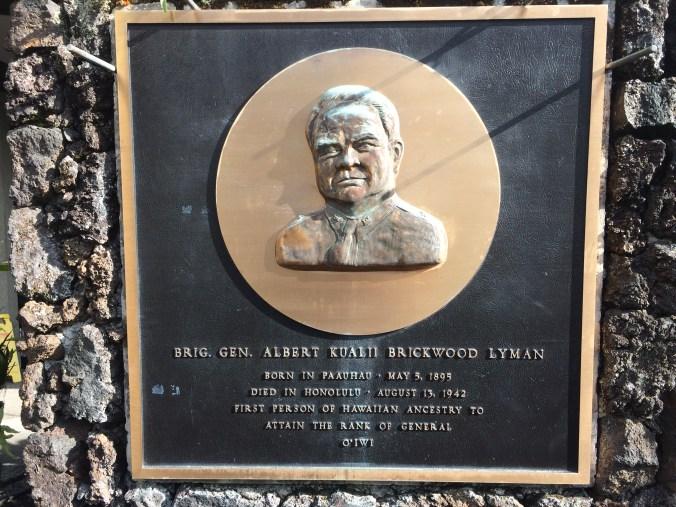 General Lyman plaque