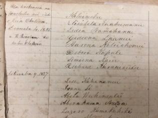Hiram Bingham Baptismal Book-Noting Dec 4, 1825