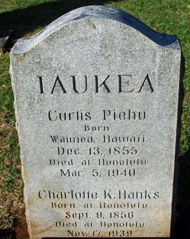 Iaukea Headstone