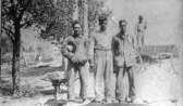 Iosepa Building A Sidewalk In Iosepa John E Board Archive Kennison and William Pukahi Sr c1910