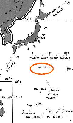 Iwo Jima map
