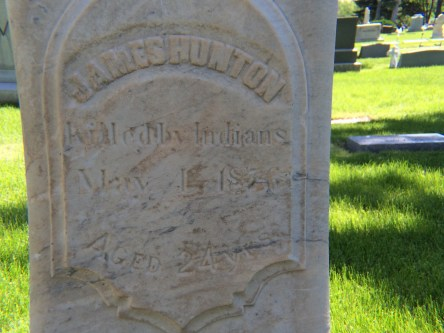 James Hunton-gravestone
