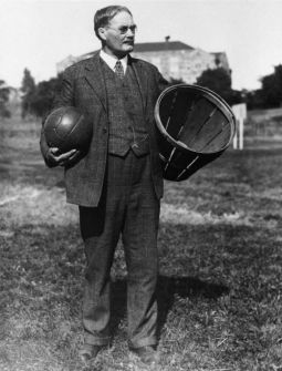 James Naismith-Canadian physical education instructor who with Luther Gulick invented basketball in 1891