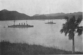 Japanese Men-of-War in Bonin Harbor
