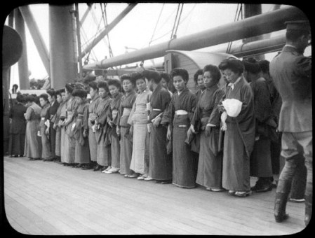 Japanese picture brides - on ship