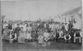 Japanese sugar plantation laborers at Kau, Hawaii Island-(HSA)-PP-46-4-010-1890
