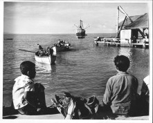 Kailua landing with the S.S. Humuula off-shore-PP-29-9-018-1935