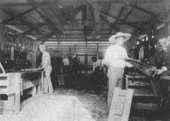 Kamehameha School for Boys, 1890, (right) Rev. Wm. Oleson, Principal, (far left) Charles E. King-(WC)