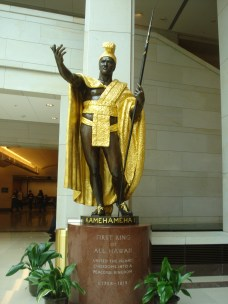 Kamehameha statue on display in the US Capitol Visitors Center, Washington DC