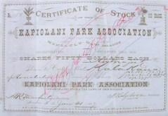 Kapiolani_Park_Association-Stock_Certificate-(kapiolani_park-a_history)