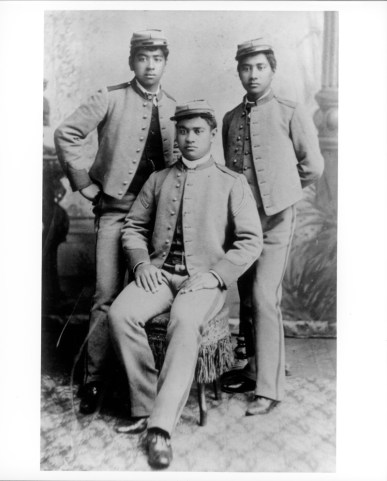 Kawananakoa, David, 1868-1908 and his brothers Edward Keliiahonui (1869-1887) and Jonah Kuhio Kalanianaole (1871-1922)-PP-97-17-008