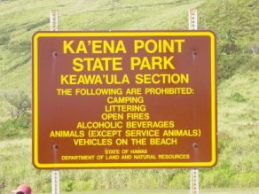 Keawaula-Park_Sign