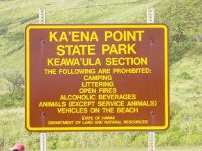 Keawaula-Park_Sign