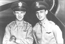 Ken Taylor (left) and George Welch posing for the camera shortly after their epic air battle over Pearl Harbor