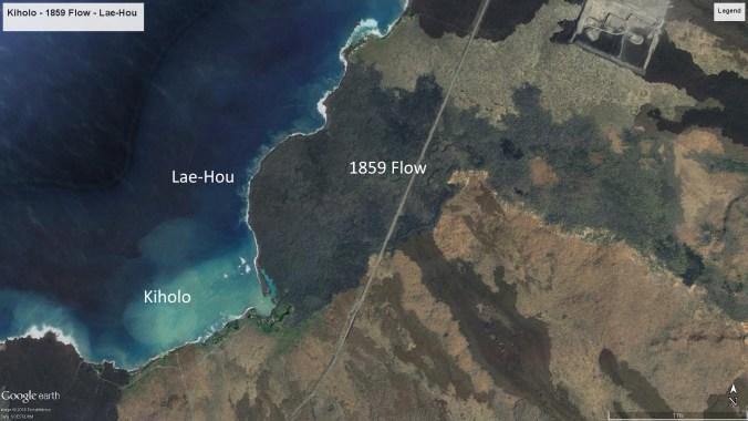 Kiholo-1859 Flow-Lae-Hou-Google Earth