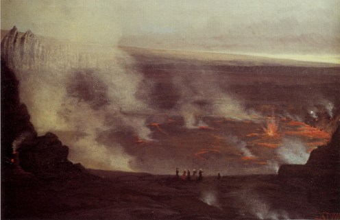 'Kilauea_Volcano',_oil_on_canvas_painting_by_William_Pinkney_Toler,_c._1860s