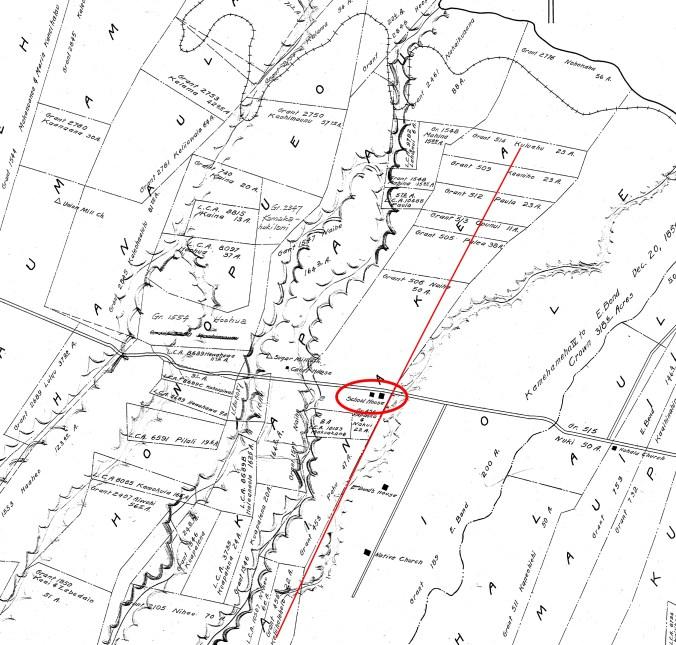 Kohala - Kapaau-Ainakea-Reg1704-1706.1-Noting-School-Old Road