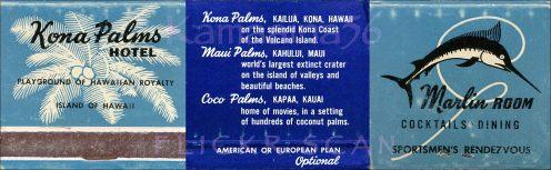Kona Palms-matches-(kamaaina56)-1962