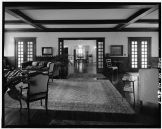 LIVING ROOM, HIP ROOF BUILDING, LOOKING SOUTH THROUGH DINING, DRAWING ROOM-LOC