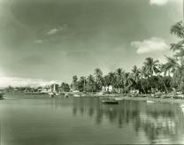 Lahaina Harbor before harbor perimeter retaining wall built-ca 1940