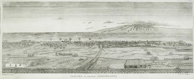 Lahaina as seen from Lahainaluna (Maui) Miss Thurston, Attributed to possibly be Eliza Thurston (1807-1873)