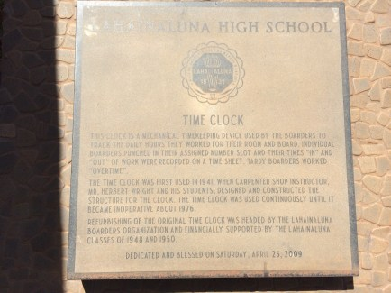 Lahainaluna-Time_Clock_for_work_on_Farm