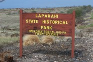 Lapakahi State Park-entrance sign