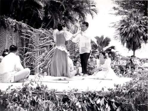 Lei Day, Filipino Bamboo Pole Dance UH-(vic&becky)-1954