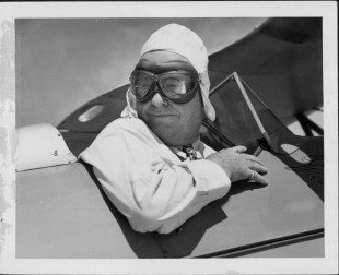 Lewis, Edward H. of Honolulu flies solo for his 60th birthday. Said to be oldest student pilot in America-PP-75-3-018-mid-1930s