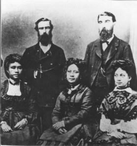 Liliuokalani, Likelike and Elizabeth Sumner. - Dominis and Cleghorn-PP-98-9-014