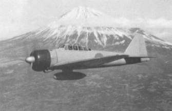 Lt Iida enroute from the factory to deliver his A6M2 model 11 to China in early 1941 flying past Mount Fuji