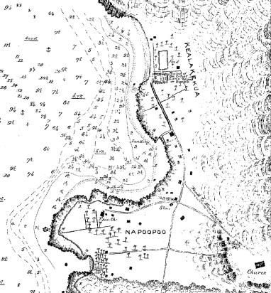 Lualiiloa Pond - Kealakekua-Napoopoo-Jackson-Reg1324-1883 (portion)