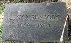 Lucy Peabody headstone