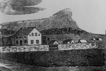 MISSION HOUSE AND CHAPEL-from 'Eveleth's History of the Sandwich Islands,'-1831-400