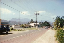 Mackay tower in background-Kailua Road towards the Center of town-(MKwiatkowski)