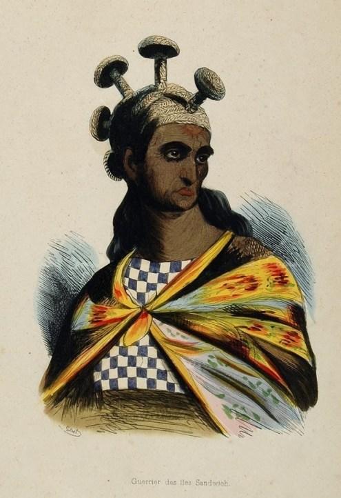 Mahiole Pohoehoe-Arago_–_Guerrier_des_Iles_Sandwich-1817