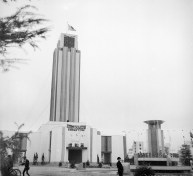 Main tower at the Nagoya Pan-Pacific Peace Exposition-1937